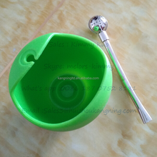 Hot selling Silicone tea cup ,yerba mate gourd with Bombilla