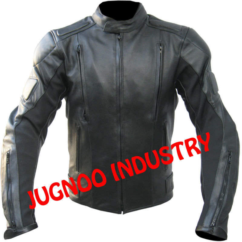 Ji-1137 Mens All Season Black Cordura Mesh Riding Motorcycle Jacket