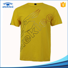 Custom clothes 2017 short sleeve yellow 95% Cotton 5% Elastane latest t shirt <strong>designs</strong> for men