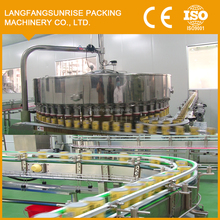 55 heads cans filling packing machine usded in apple juice production line