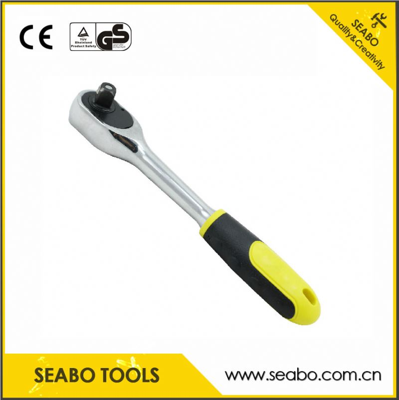 Stretchable drive electronic digtial torque wrench with plastic handle