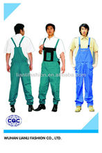 Hot sell polyester/cotton denim bib pants for work