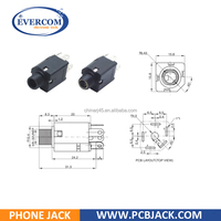 5 PIN Standard 6.35 mm Audio Jack Connector