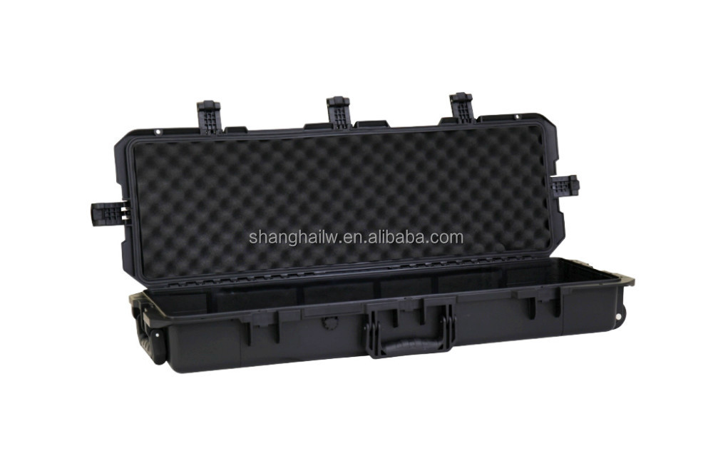 plastic hard gun case x710 with foam,rifle case