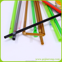 Plastic Drinking Straw With LOGO Printing , Customized AD Straw