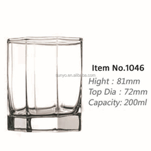 Sodalime polygon shaped low ball glass clear transparent customized size high quality in stocks