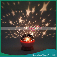 Beautiful Rotation Stars Cosmos Night Light Projector for Kids