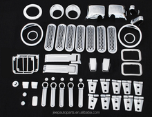 JK Exterior Chromed auto parts for 07-16 Jeep Wrangler