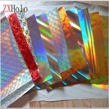 Seamless rainbow holographic paper board for printing