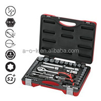 "1/2""DR 58pc Super Grip Non-Slip CR-V Socket Set"
