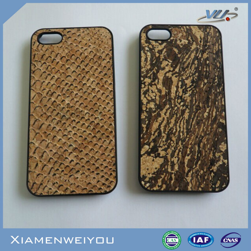 Funky Novelty Newest Hot Selling High Quality Cork Leather Mobile Phone Case for iPhone 5s