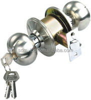 indoor wooden rim door cylindrical knob door locks with key