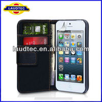 Size 100% Confirmed tested with REAL Phone,Book Style Wallet Case for iPhone 5S,Credit card flip case for iPhone 5S, Laudtec