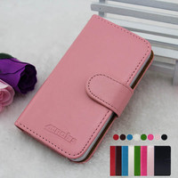 Wholesale High Quality Stand Wallet Flip Leather Case for LG Optimus Me P350