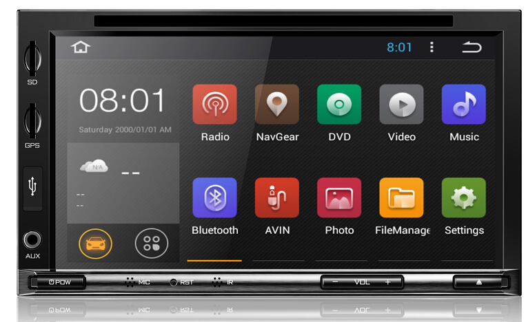 new models good quality 2 din car dvd gps android with USB/FM/AM/DVD/GPS/Bluetooth