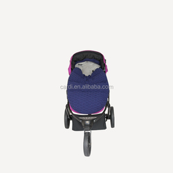 New design large size navy blue sweater warmest quilted baby stroller sleeping bag