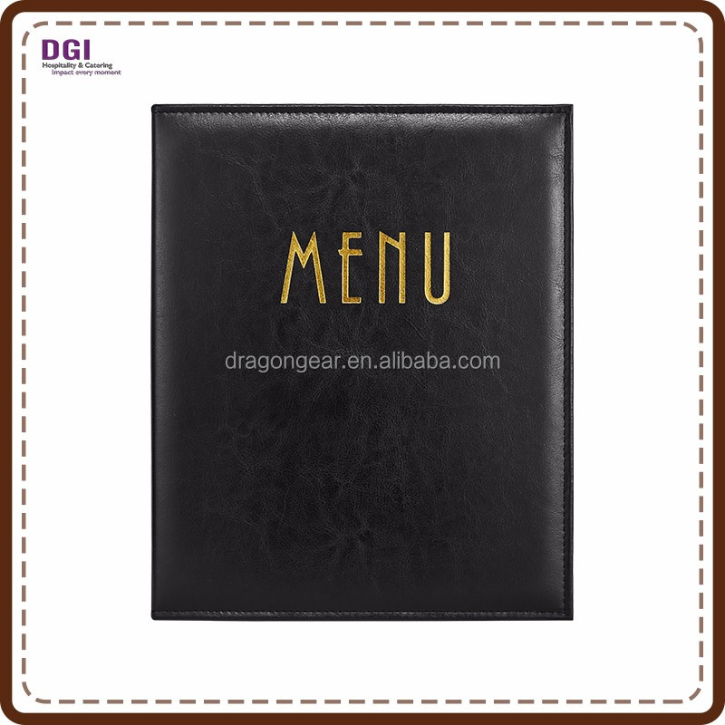 Hotel Restaurant Supplies fancy menu holder restaurant leather cover