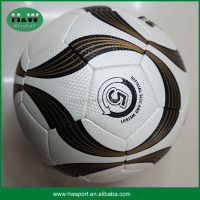 Top quality pu grain textures soccer ball