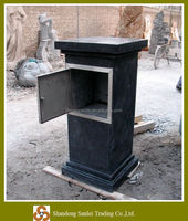 outdoor granite hand carved stone letterbox stone mailbox