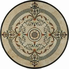 Water Jet Medallion Marble Inlay Flooring With Promotional Price