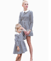 Newest Fashion Girl Dress With Printed Dresses Long Sleeve Children Wear