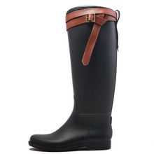 fashion ladies shoes, pvc rain boots for women footwear