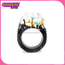 Cheap Beautiful Wooden Resin Rings of Jewellery
