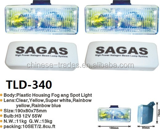 cheap price square metal SAGAS halogen auto car fog lamp