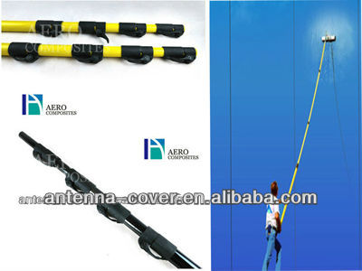 light but strong fiberglass telescope water fed pole