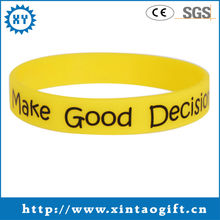 Business Gift Use and Printed Technique custom silicone wristband