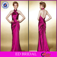 A-line Seductive Halter Pleated Houston Formal Halter Neck Evening Dress Patterns