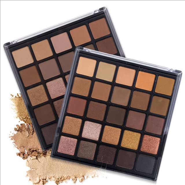 Cheap price wholesale glitter and matt cosmetic makeup eyesahdow 25 colors eyeshadow palette