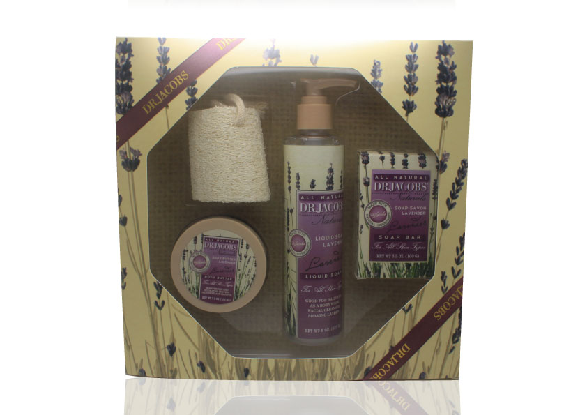 5pk scented bath gift set in squared display box