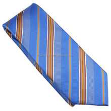 uniform micropoly blue striped neckties in china