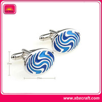 custom simple and decent design cufflink with enamel