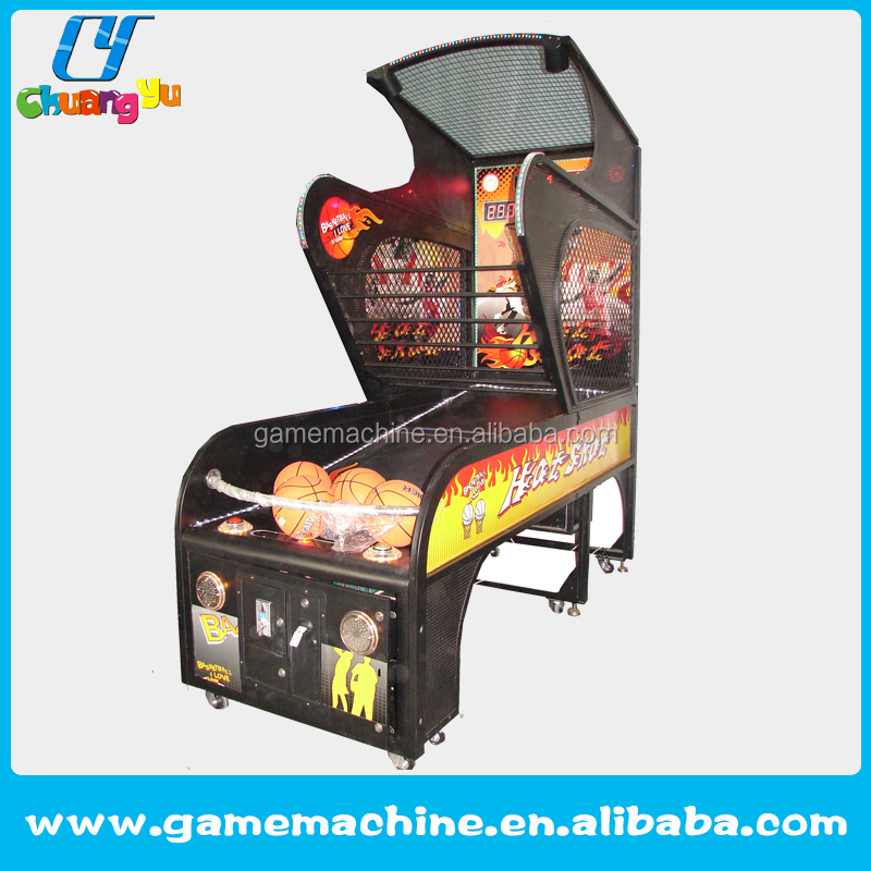 Coin operated crazy shooting hoop basketball game machine