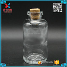 2016 new clear 120ml glass wishing/drift bottle/vials with cork for gift