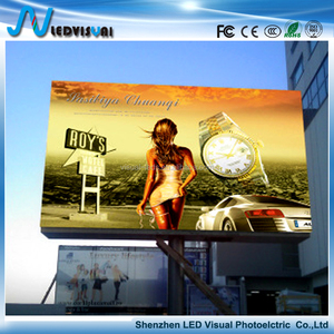 Alibaba SMD/DIP p4, p5, p6, p8, p10 Outdoor led display screen fix installation outdoor led display advertising sign
