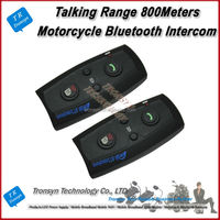 Factory Wholesale Full Duplex 800Meters 2 Riders BT Interphone Bluetooth Motorcycle Helmet Intercom