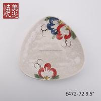 Japanese cuisine ceramic dinnerware&stoneware serving triangle deep plate E472-72