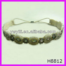 Girl's ivory pearl beaded headband