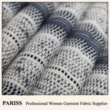 PARISS polyester cotton yarn dyed designer inspired textured tracksuit fabric