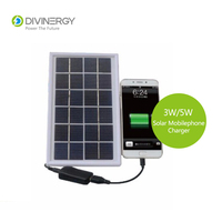 Portable 3W 5W Solar Mobilephone Charger