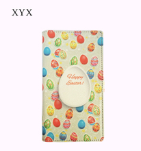 Easter Privilege! varicolored mobile phones covers micro button closure leather flip cover case for oppo r5