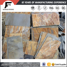Import and export stone slabs natural rusty flooring slate price