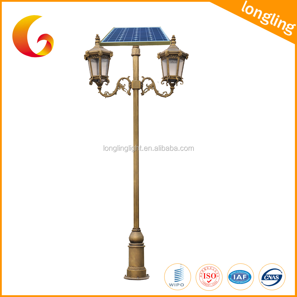 Decorative Antique Aluminum Street Light Pole with IEC Certification