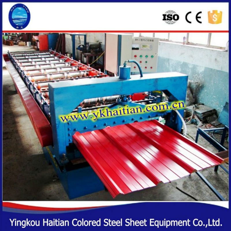 HT Single layer 900 color steel roof tiles roll forming <strong>machine</strong> /aluminum sheets making <strong>machine</strong>