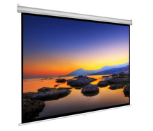 Top quality 150 inch 4:3 motorized projector screen for home