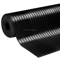 3mm to 6mm Thickness Best Quality Amercian Floor Use and Anti-Slip Wide Broad Ribbed Feature rubber sheet