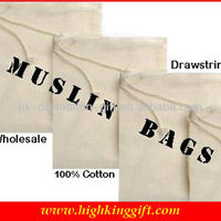Wholesale 100 Muslin Cheap Cotton Drawstring